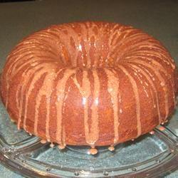 Pumpkin Cake with Orange Glaze PamMar