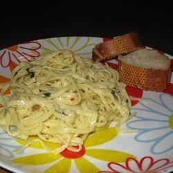Creamy Linguini for Two SHERRANCE