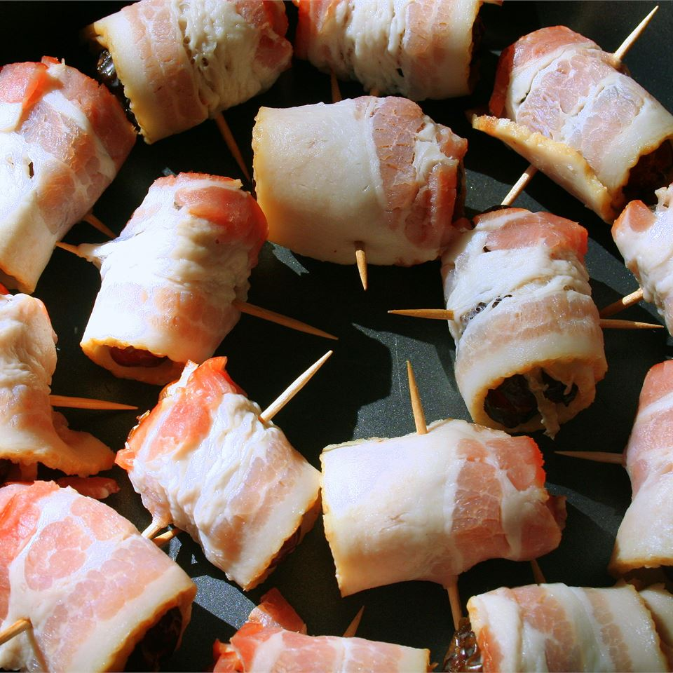 Bacon Wrapped Dates Stuffed with Blue Cheese Yana