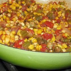 Okra, Corn and Tomatoes KM
