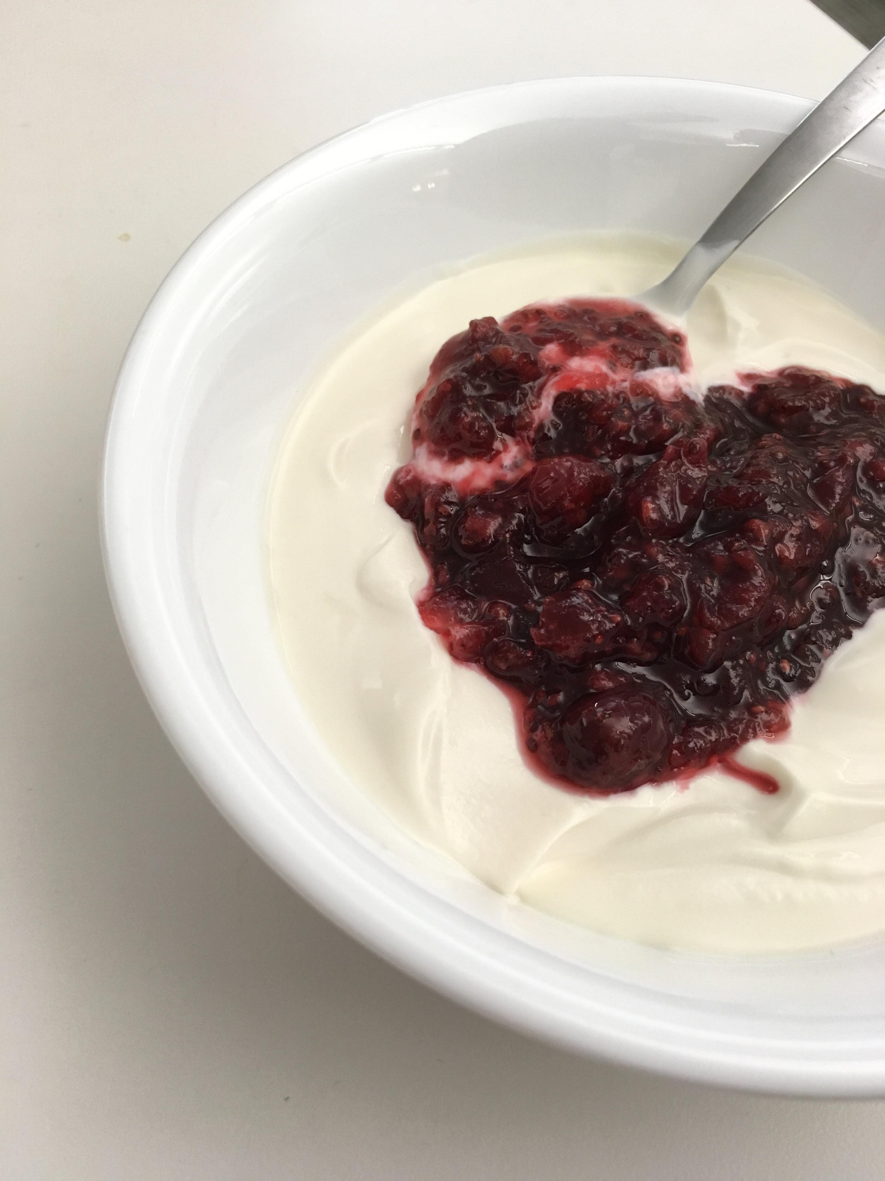 Cranberry Raspberry Chia Seed Jam