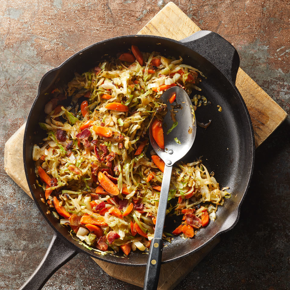 Pan-Fried Cabbage with Bacon & Shallot Trusted Brands
