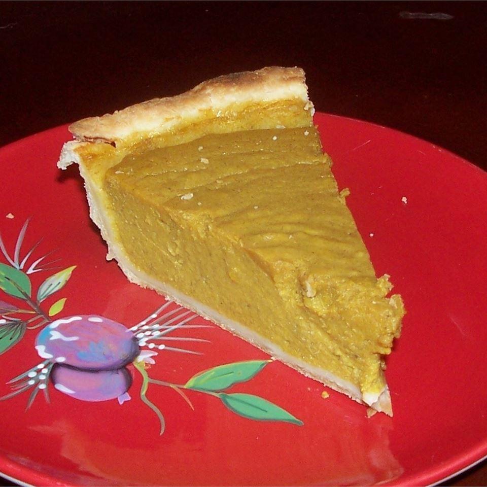 Grandma's Sweet Hubbard Squash Custard Pie juniorbaker817
