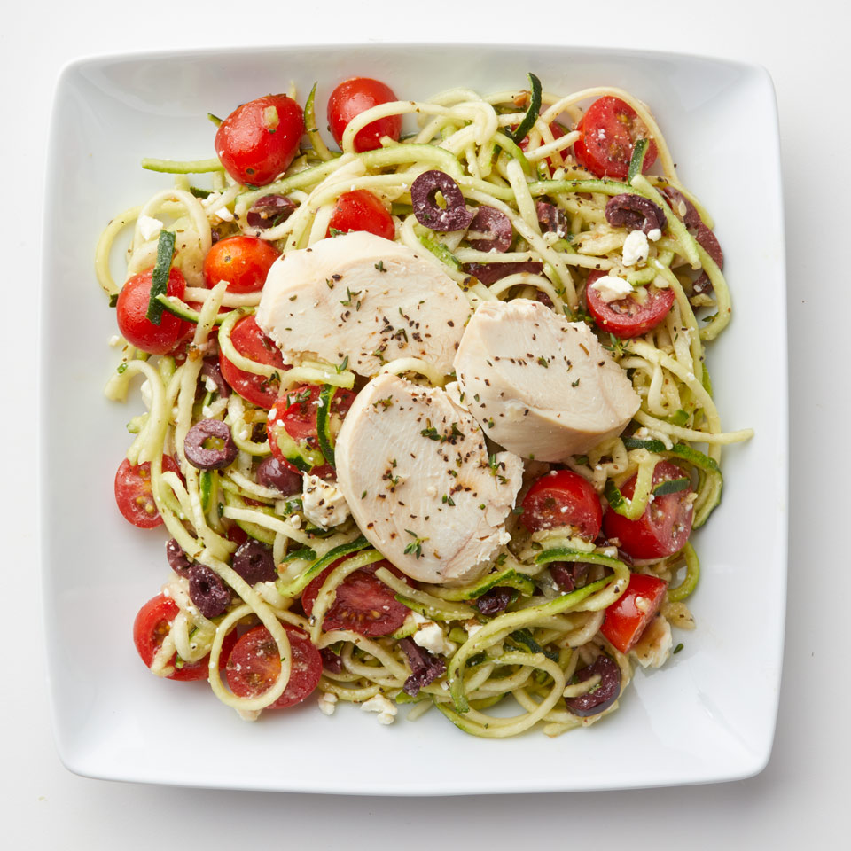 Zucchini Noodle Salad with Chicken Trusted Brands