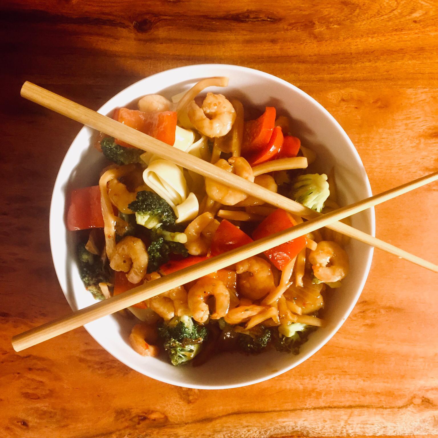 Shrimp Stir Fry With Egg Noodles Peregrin