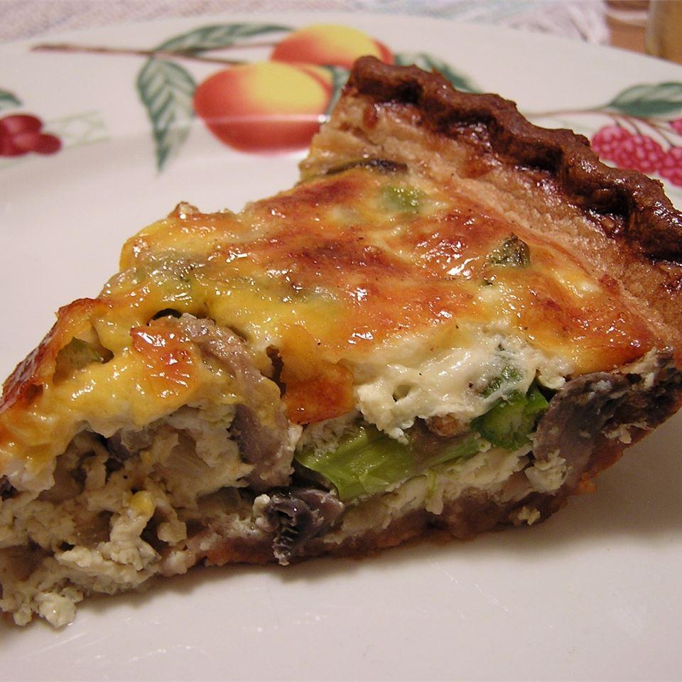 Asparagus and Mushroom Quiche WendytheQ