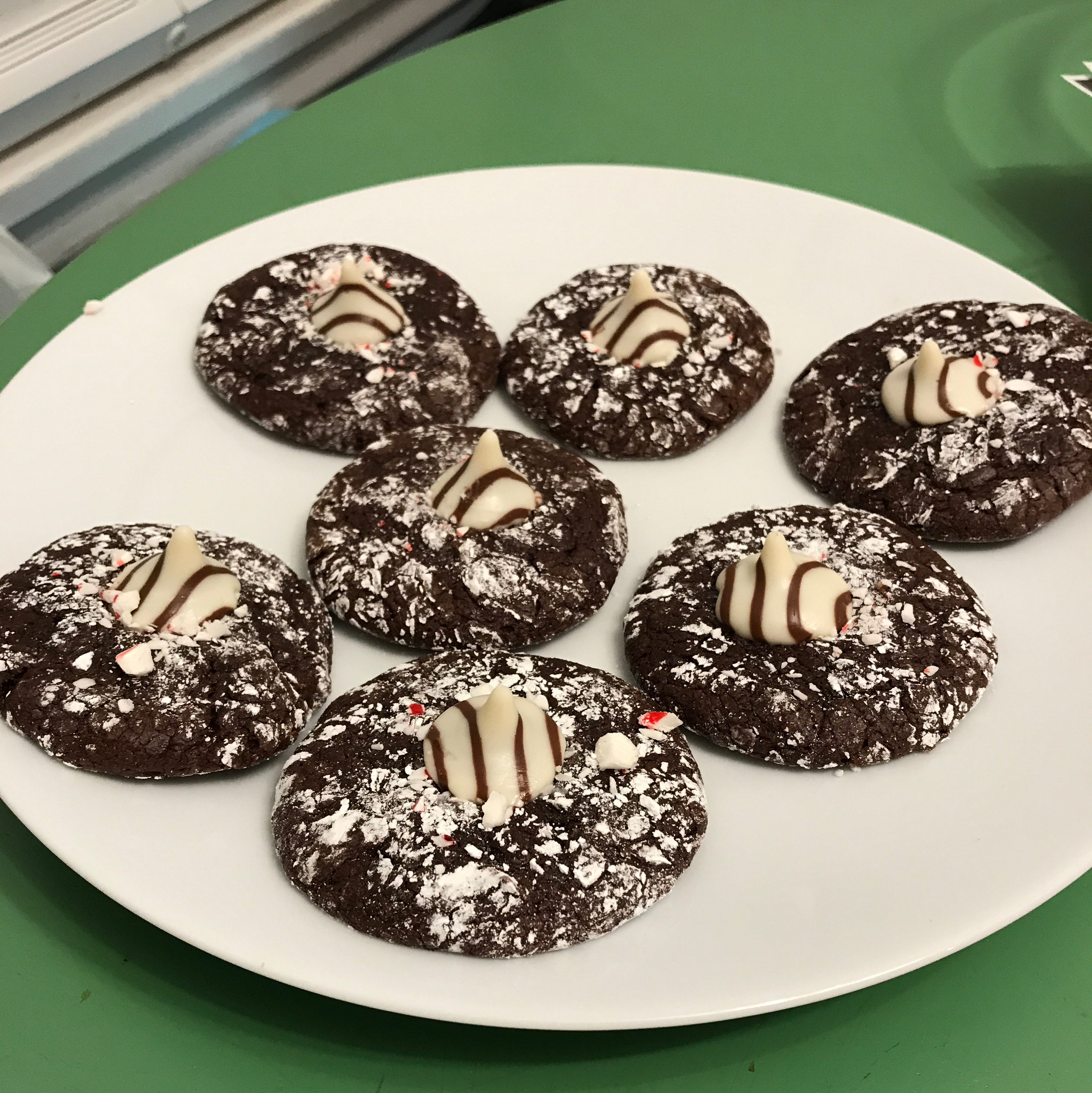 KISSES Peppermint Brownie Drops