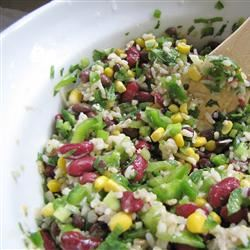 Mexican Bean and Rice Salad