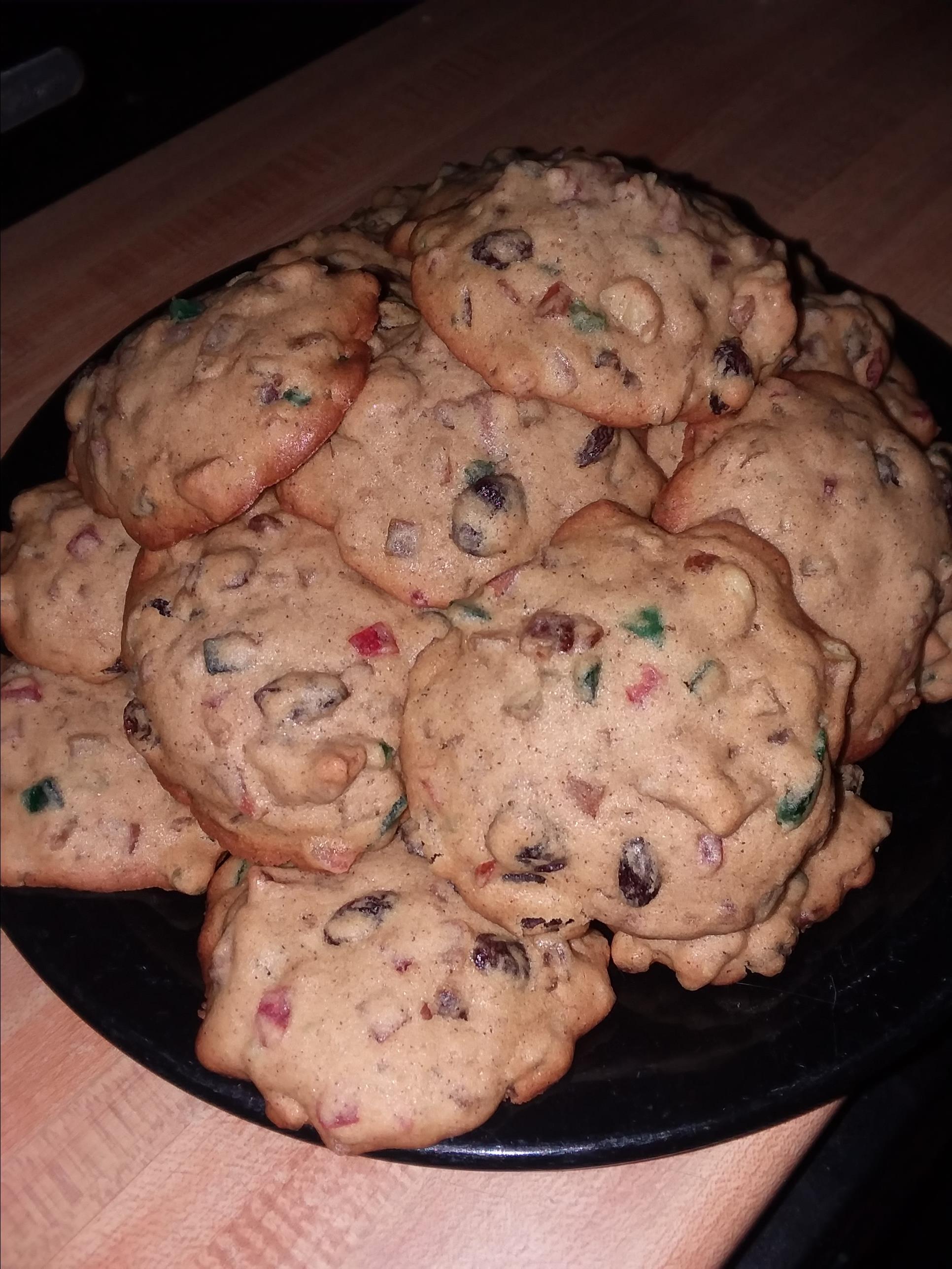 My Grandma's Fruitcake Cookies
