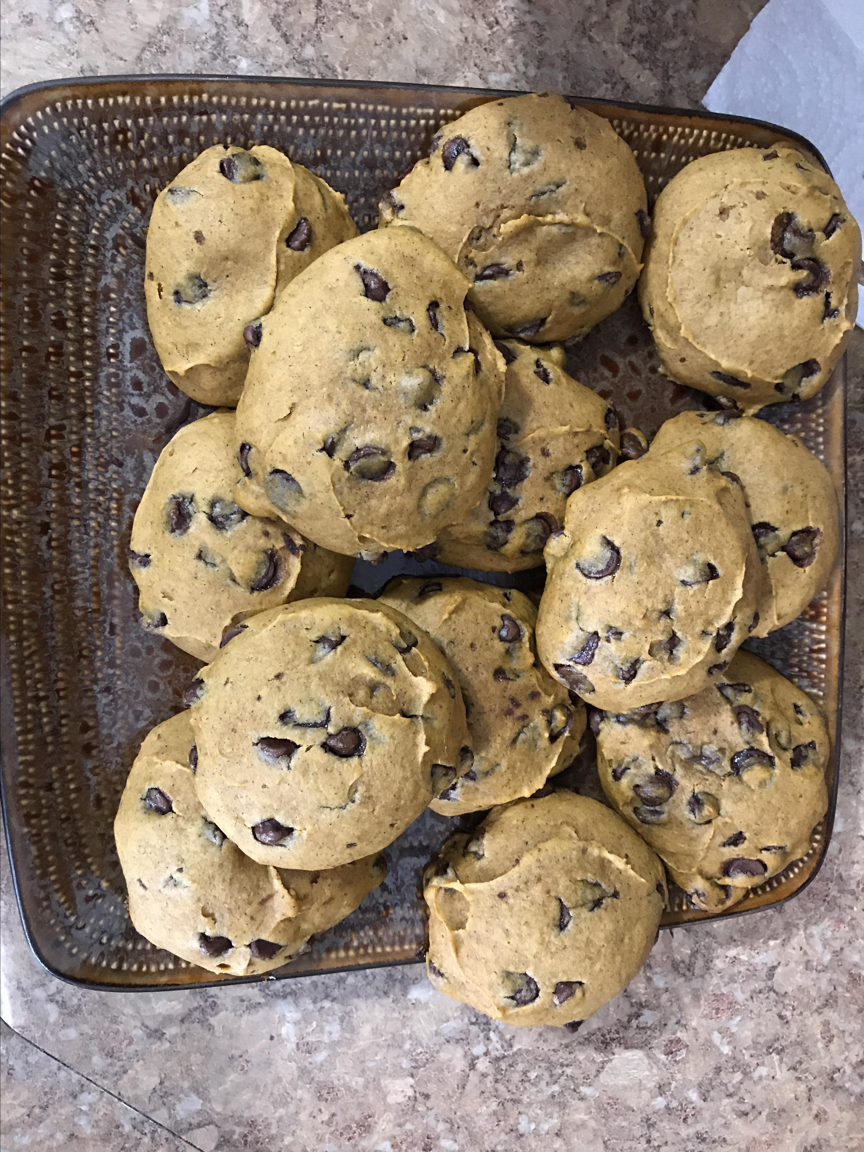 Pumpkin Chocolate Chip Cookies III morgs