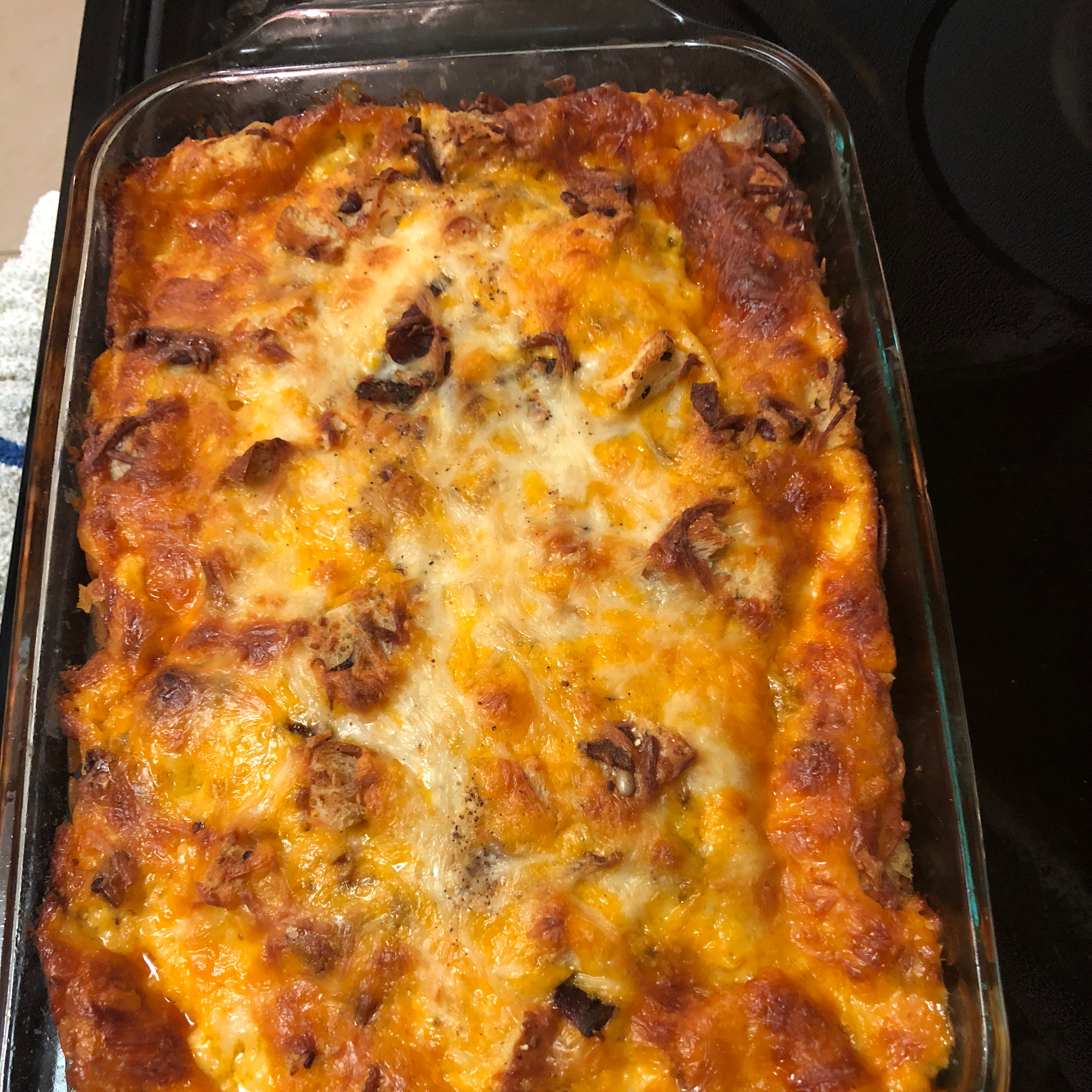 Cheesy Bacon and Egg Brunch Casserole Kelley Wallace