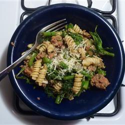 Chorizo and Broccoli Rabe Pasta kikikalooki