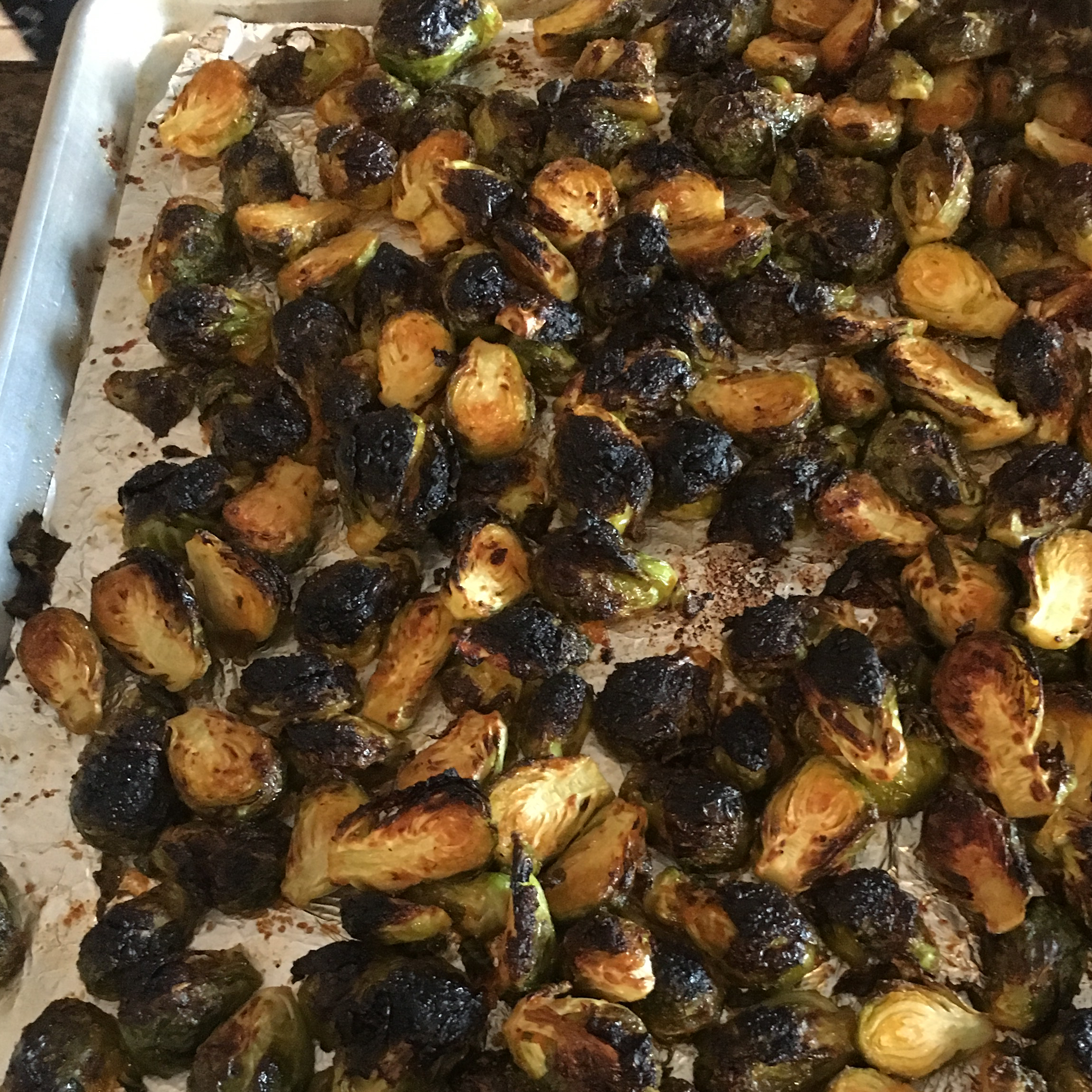 Sriracha Honey Brussels Sprouts Jeany