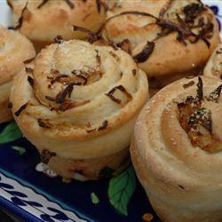 Hot Onion Pinwheels Baking Nana