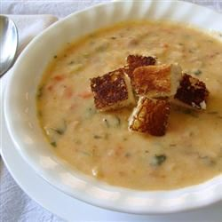 Potato Cheese Soup with Velveeta® Rocquie