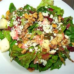 Fall Salad with Cranberry Vinaigrette