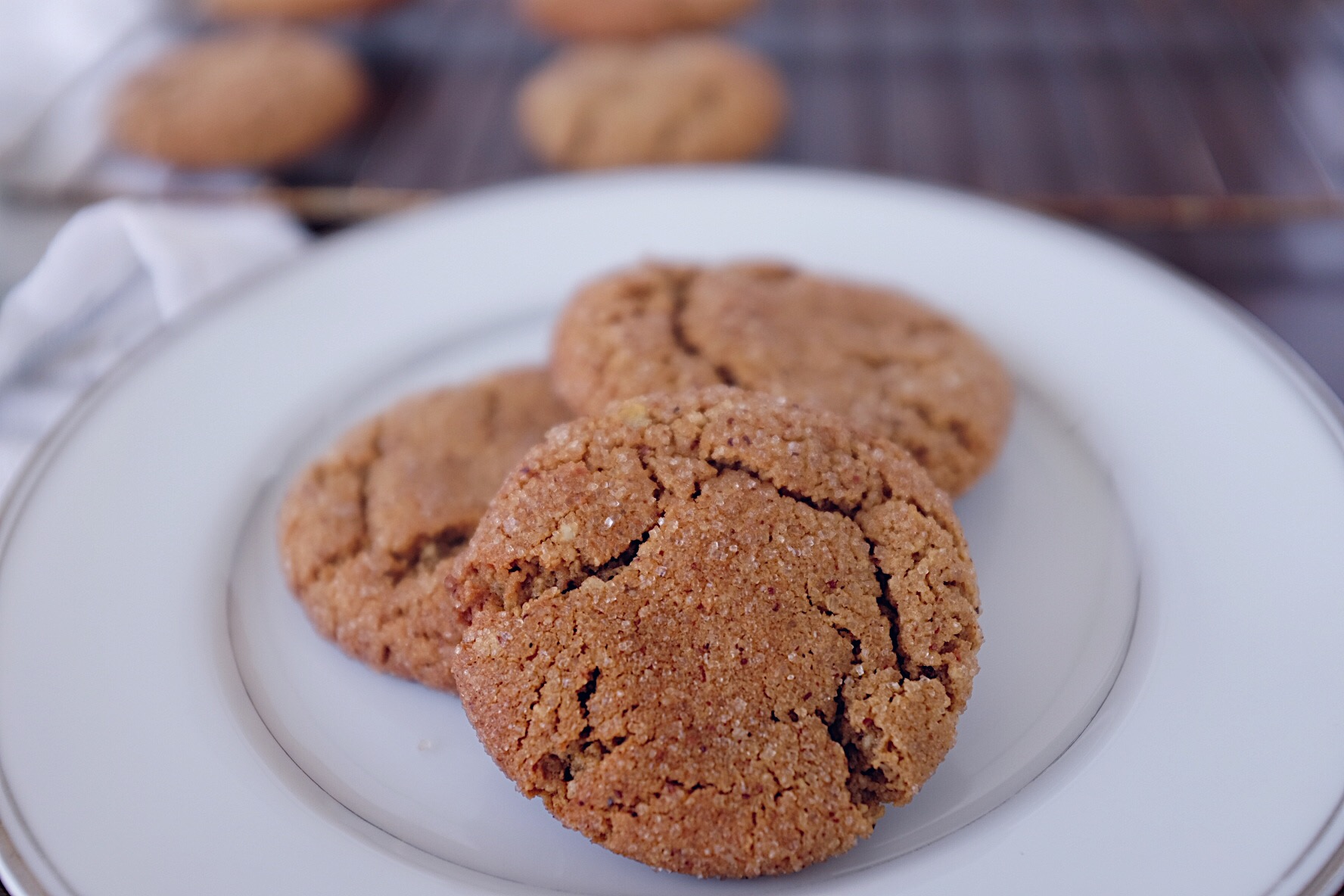 Gluten-Free Gingersnap Cookies