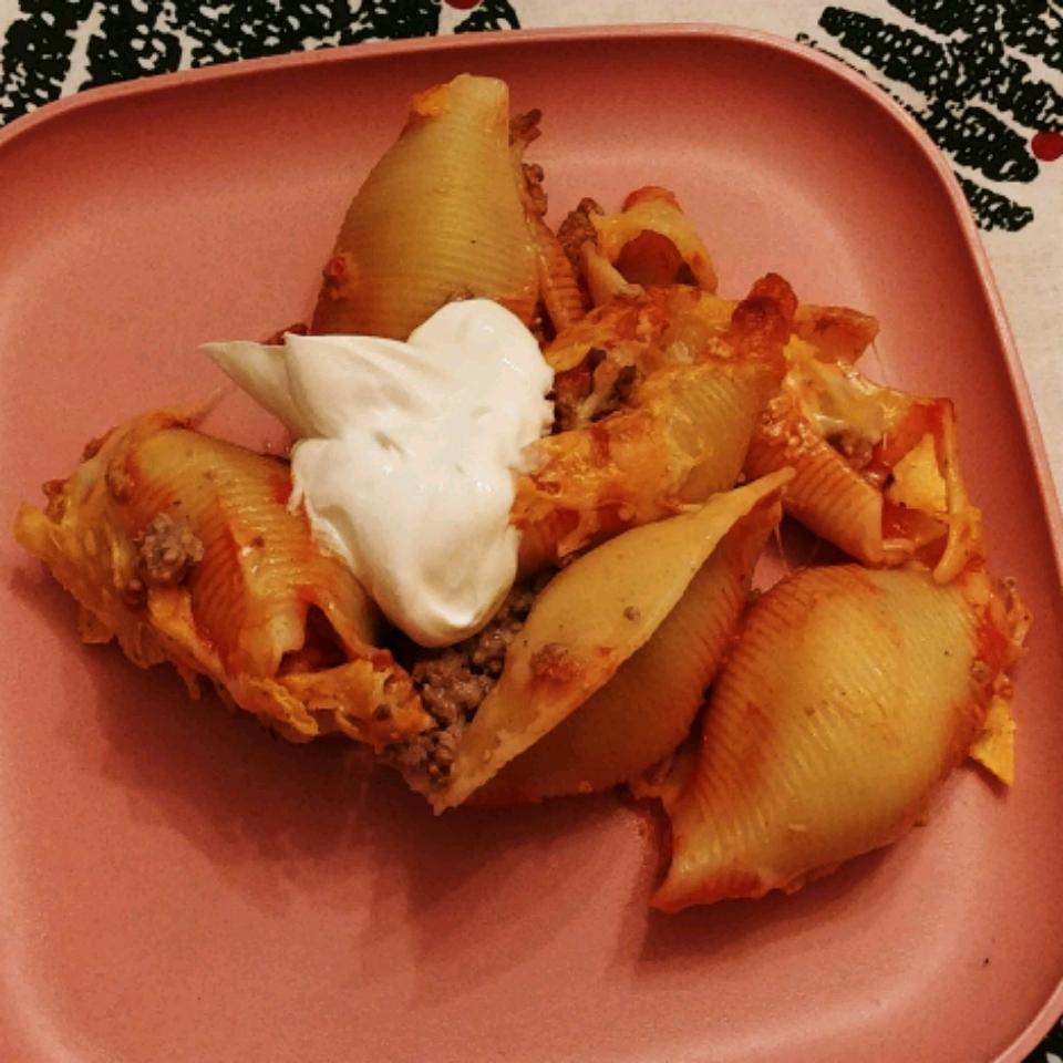 Tacos in Pasta Shells Katie