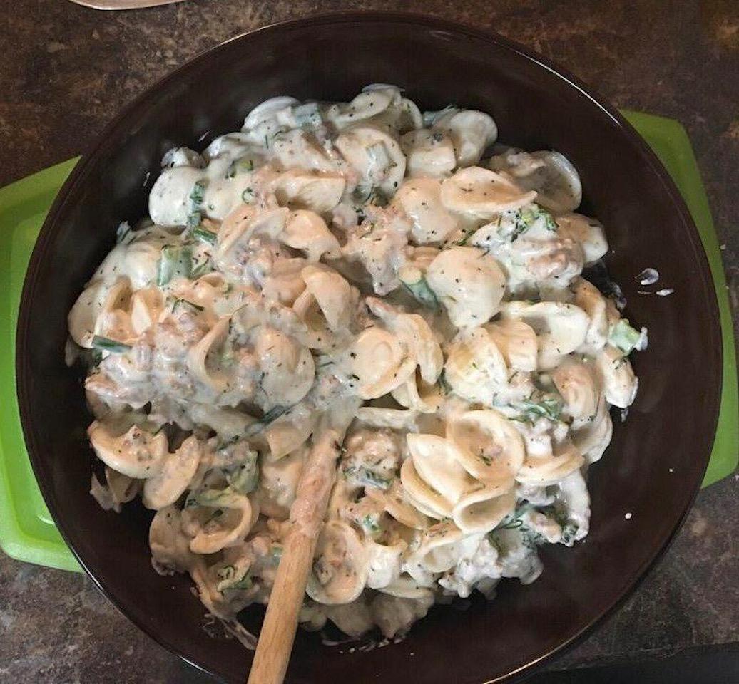Creamy Orecchiette Pasta with Italian Sausage and Broccolini Cindy Bonner