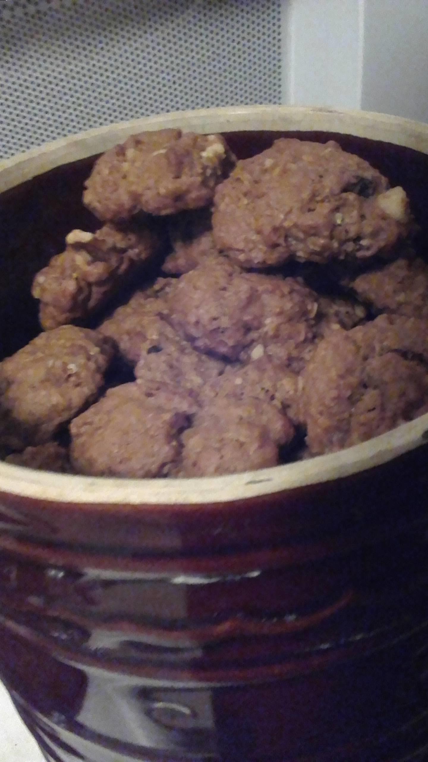 WWII Oatmeal Molasses Cookies karen bolend