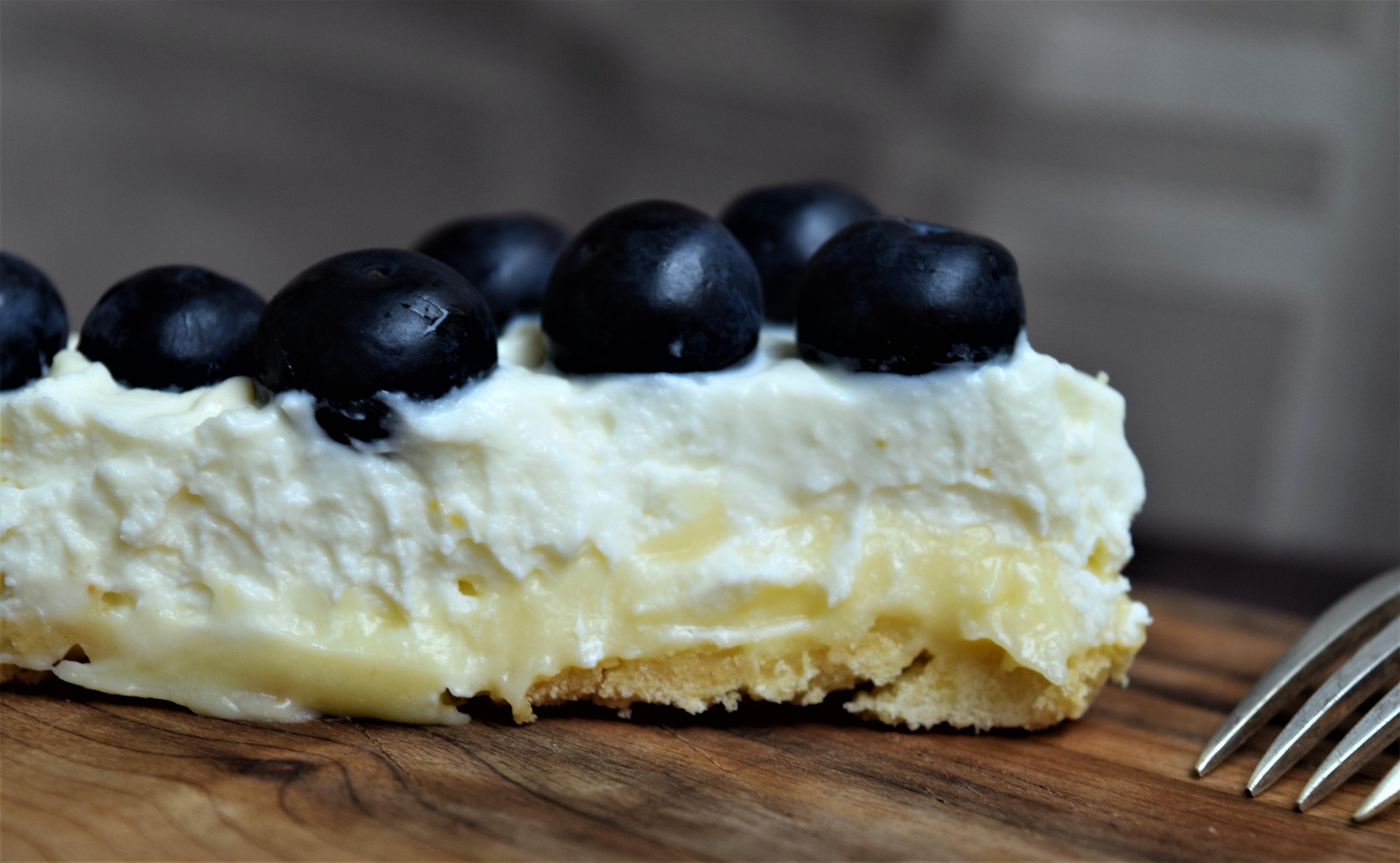 Crostata with Lemon Custard and Whipped Ricotta Cream