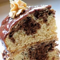 Chocolate Peanut Butter Marble Cake mominml
