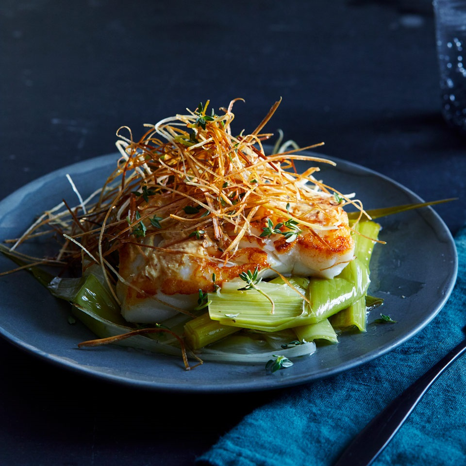 Coriander-Crusted Baked Cod with Leeks Trusted Brands