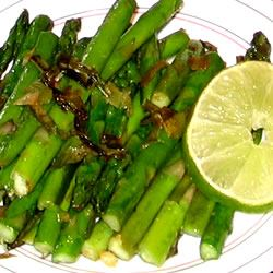 Garlic Asparagus with Lime