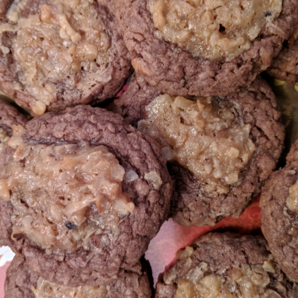 German Chocolate Thumbprint Cookies Kathy McCartney