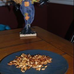 Spiced Maple Pumpkin Seeds iamapril79