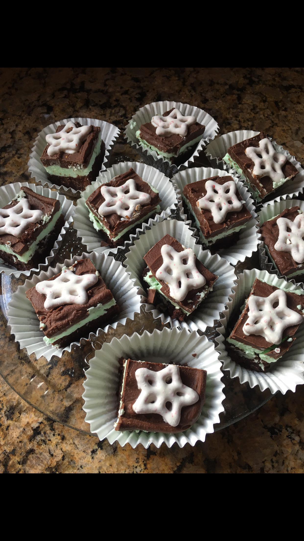 Chocolate Mint Dessert Brownies