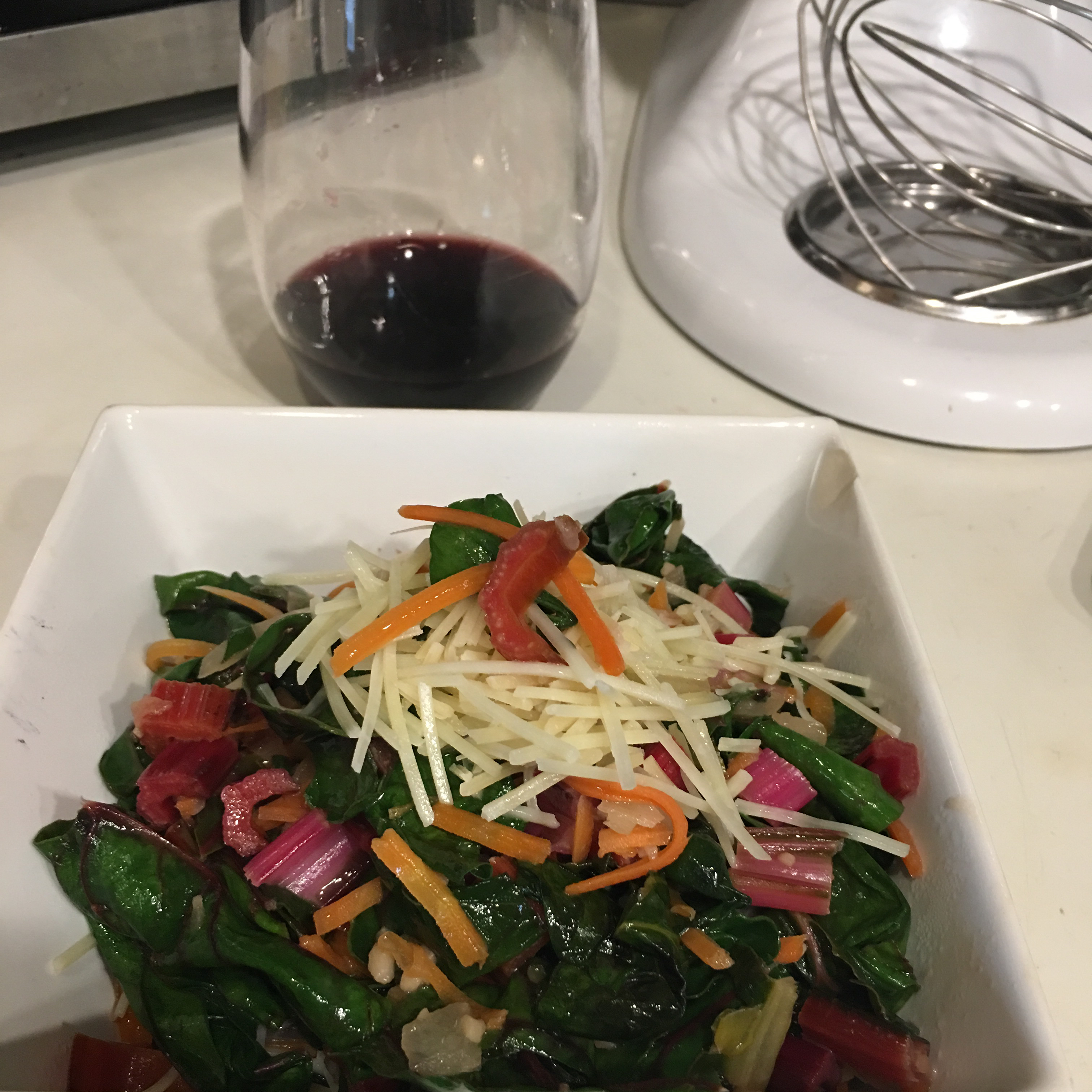 Sauteed Swiss Chard with Parmesan Cheese KBuchanan