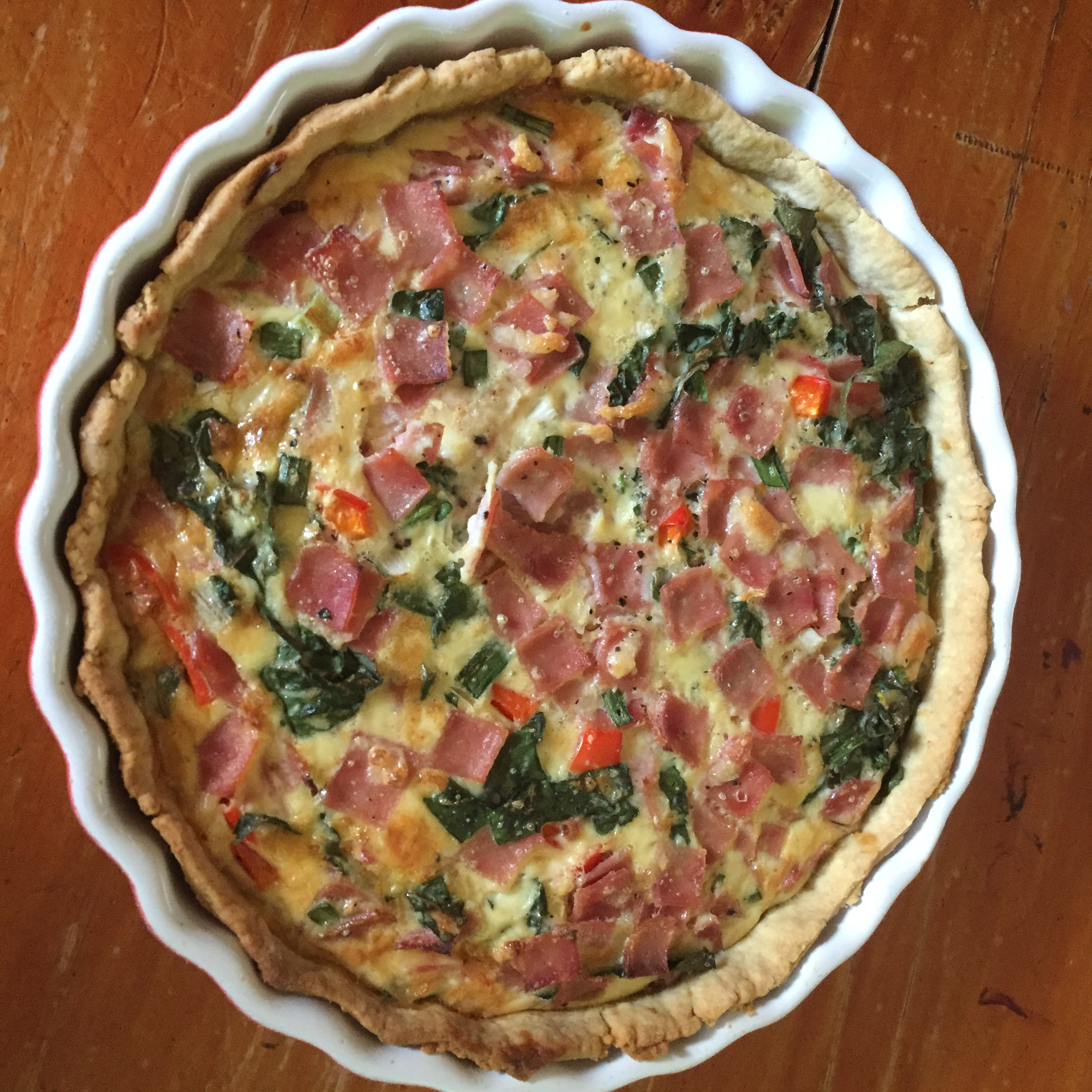 Surimi, Spinach, and Roasted Red Pepper Quiche Elba Barra