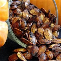 Spiced Maple Pumpkin Seeds