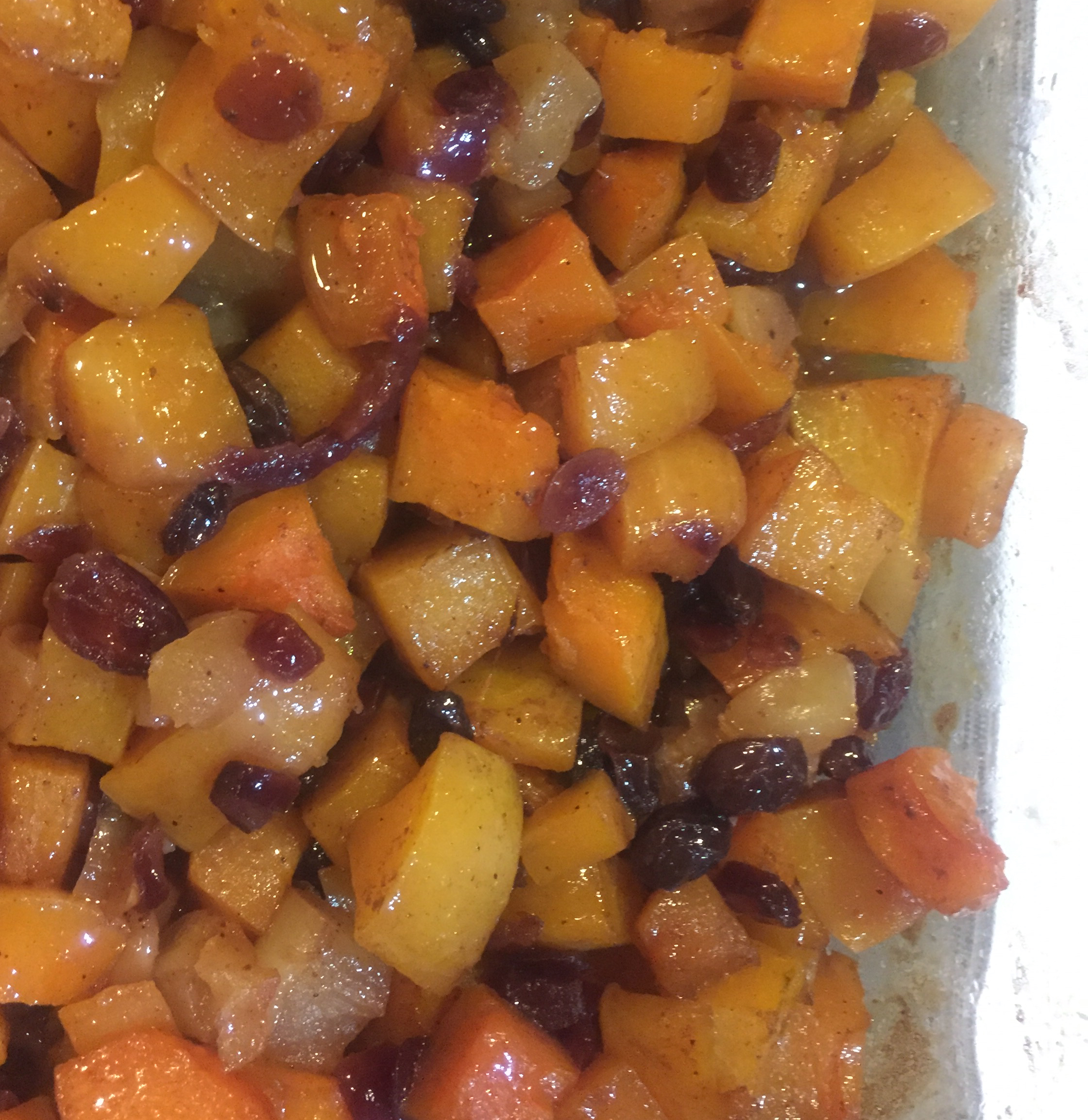 Butternut Squash with Apple and Cranberries Belinda Williams