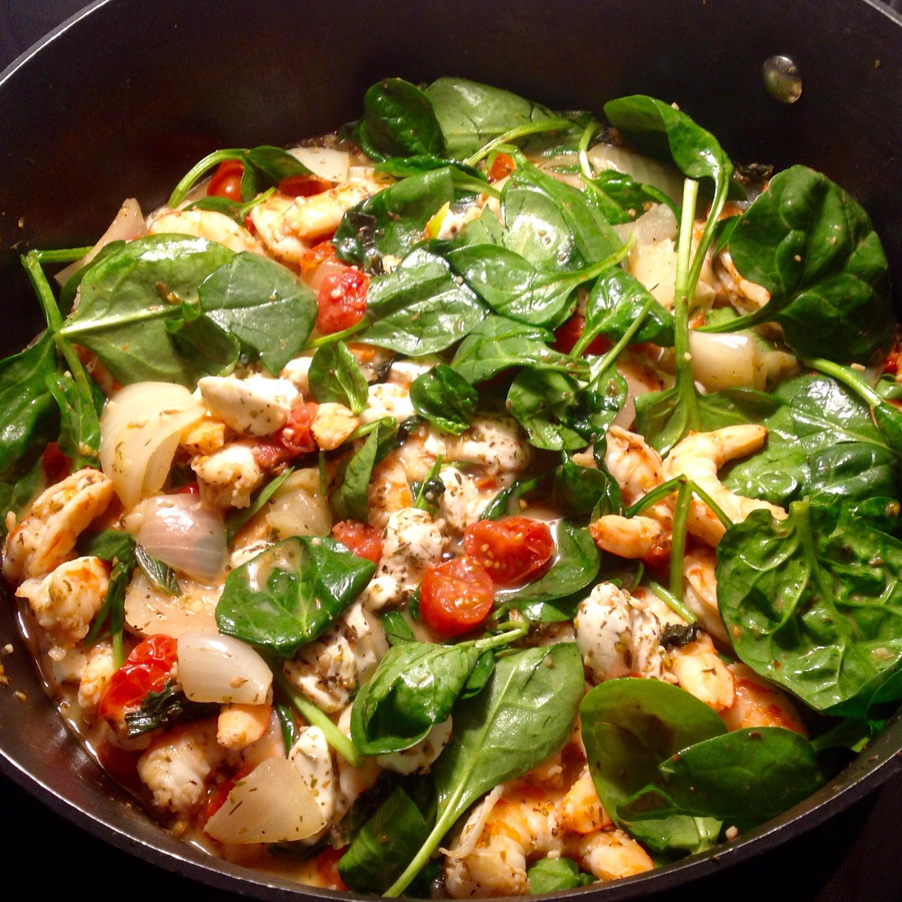 Fresh Tomato Shrimp Pasta Paula
