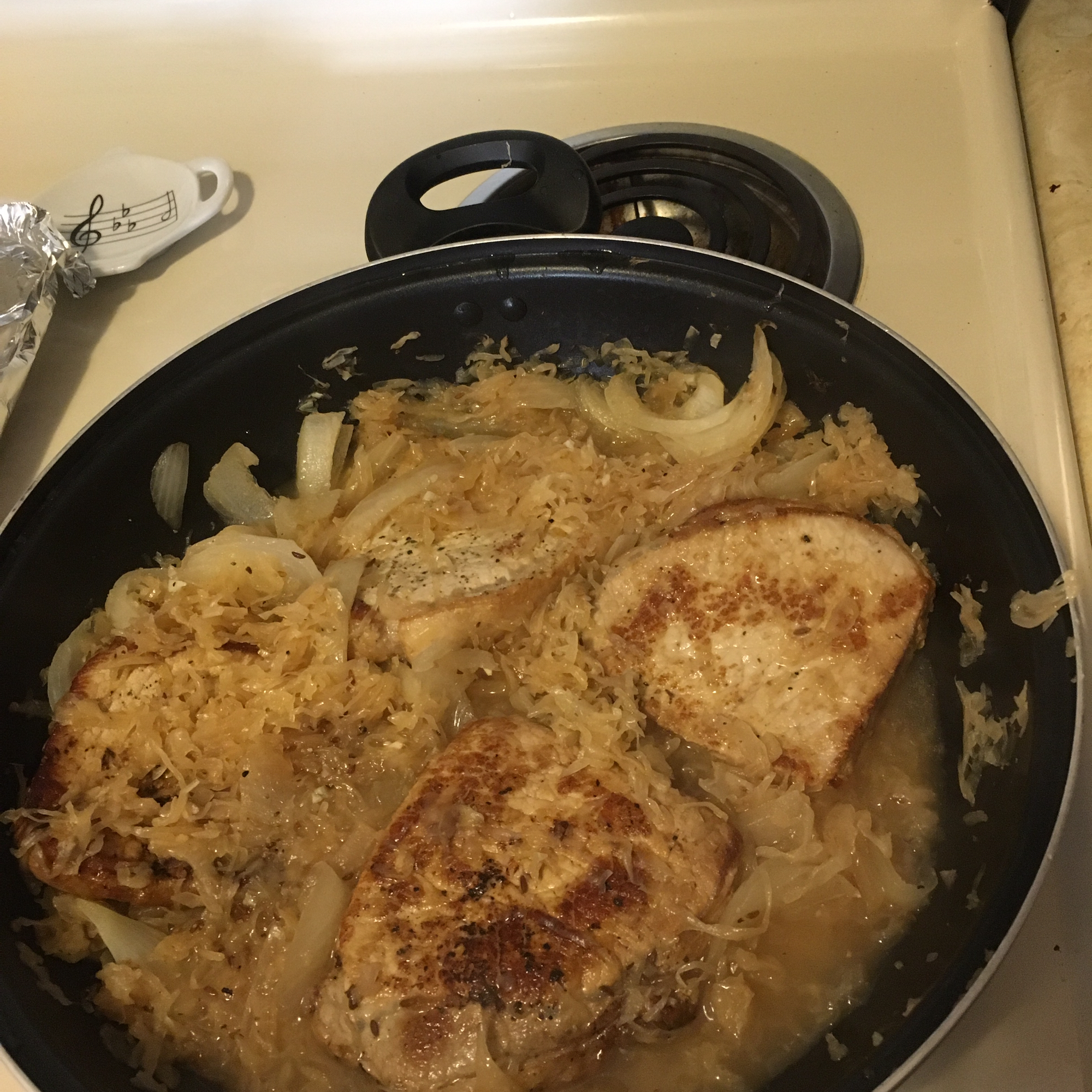 Pork Chops and Sauerkraut Amanda Charles