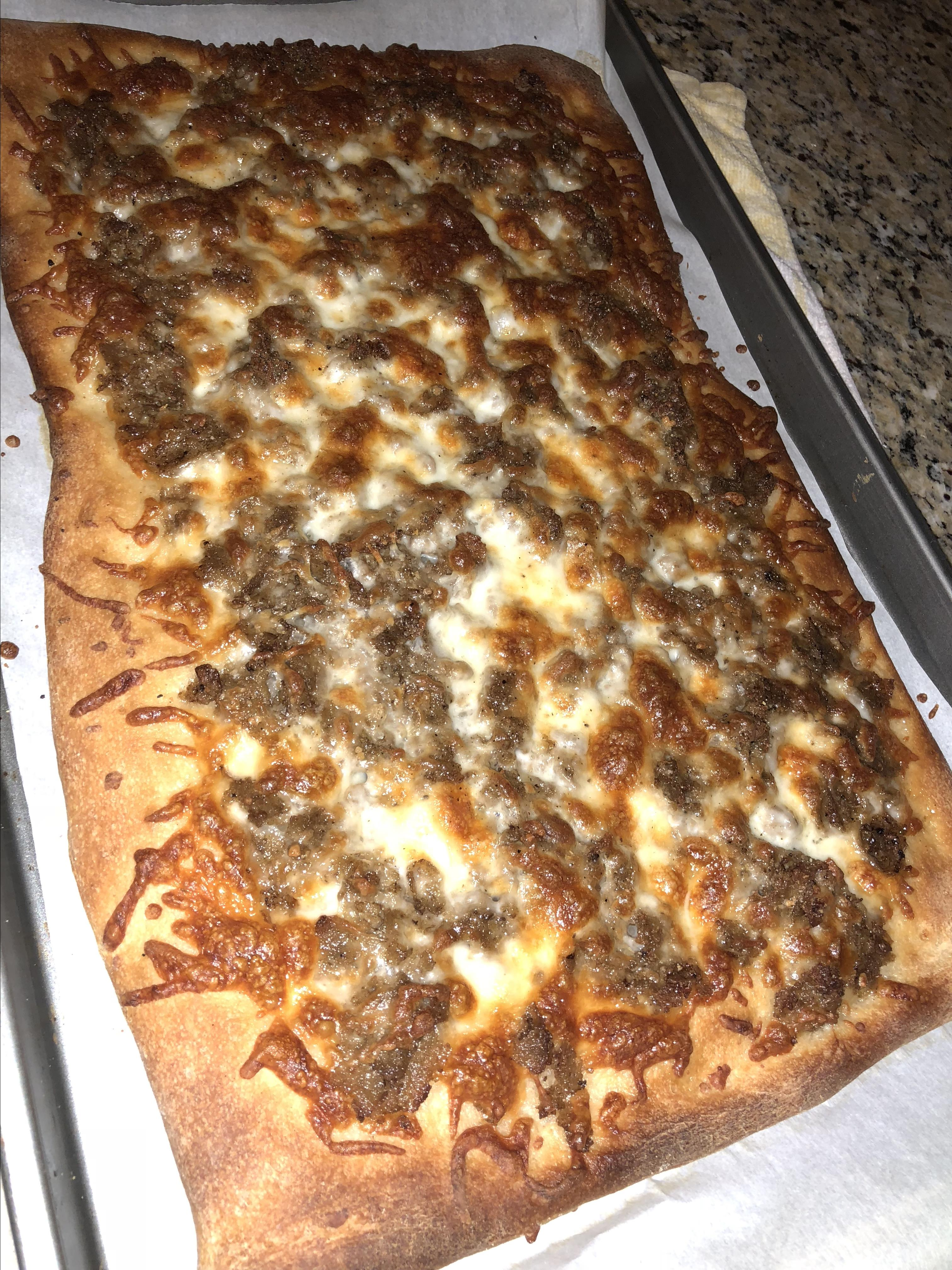 Easy Philly Cheese Steak Pizza