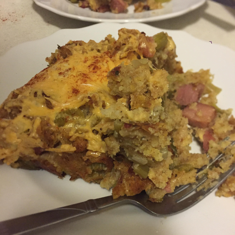 Egg and Cornbread Bake sara mae
