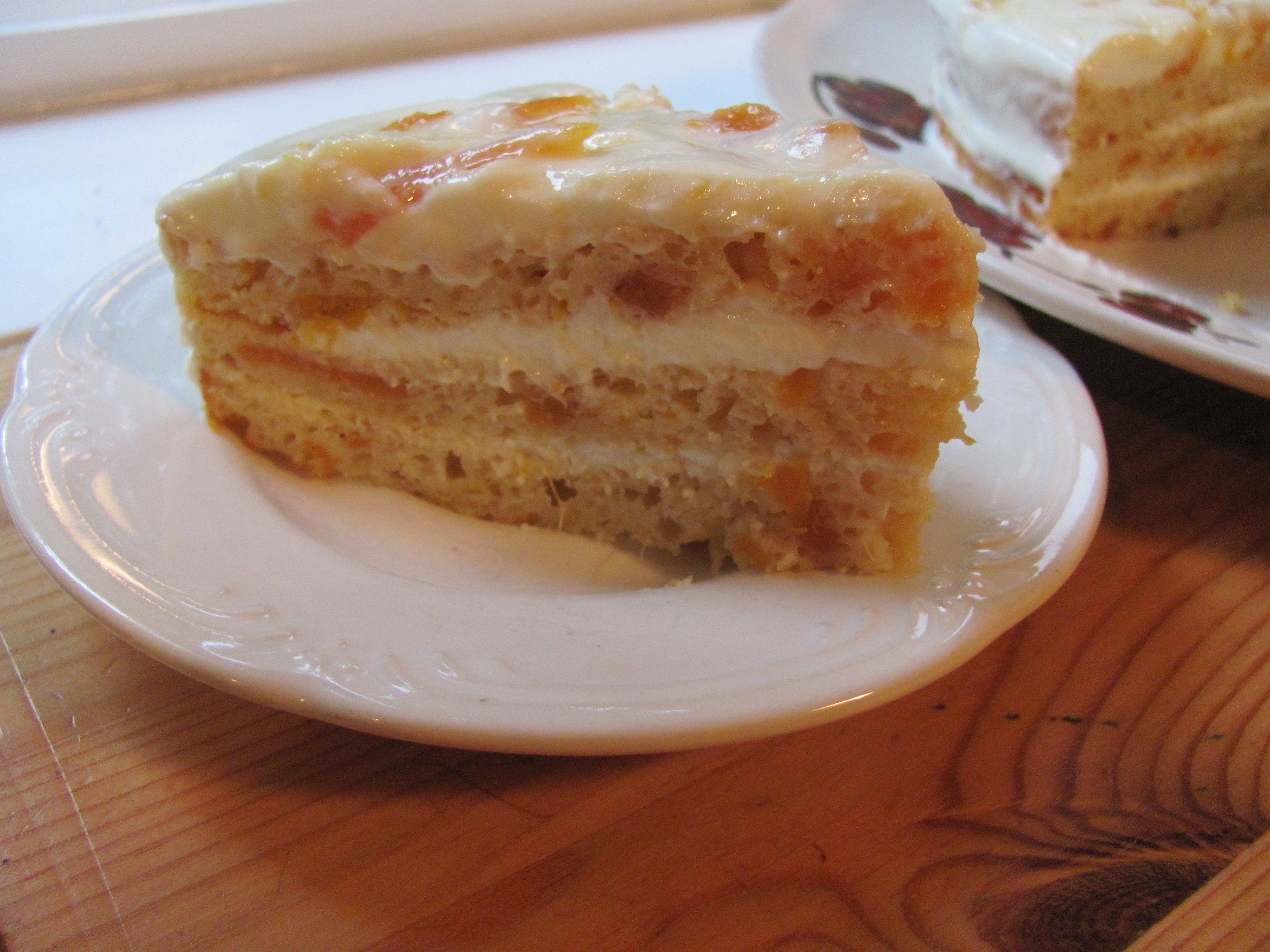 Russian Sour Cream Cake AllrecipesPhoto