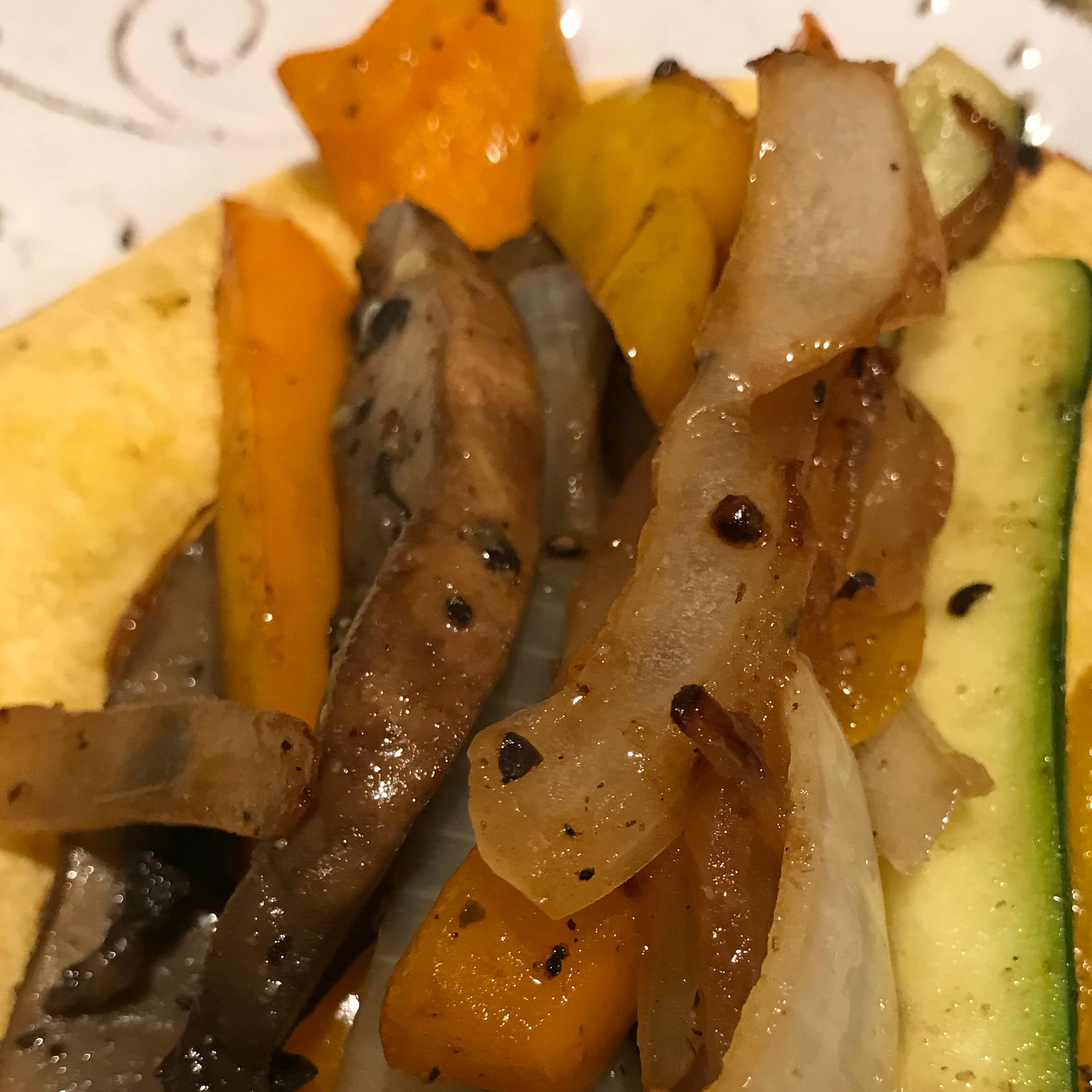 Colorful Vegetable Fajitas image