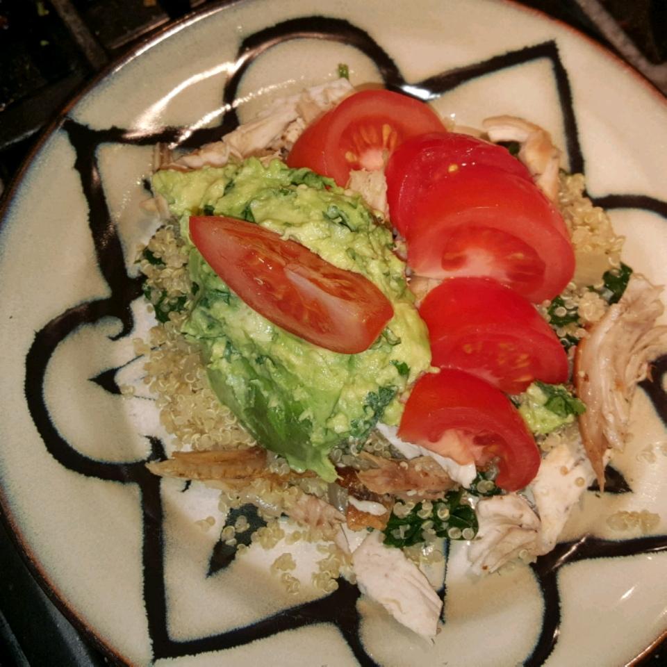 Cold Chicken Quinoa Avocado Salad Colleen Seal