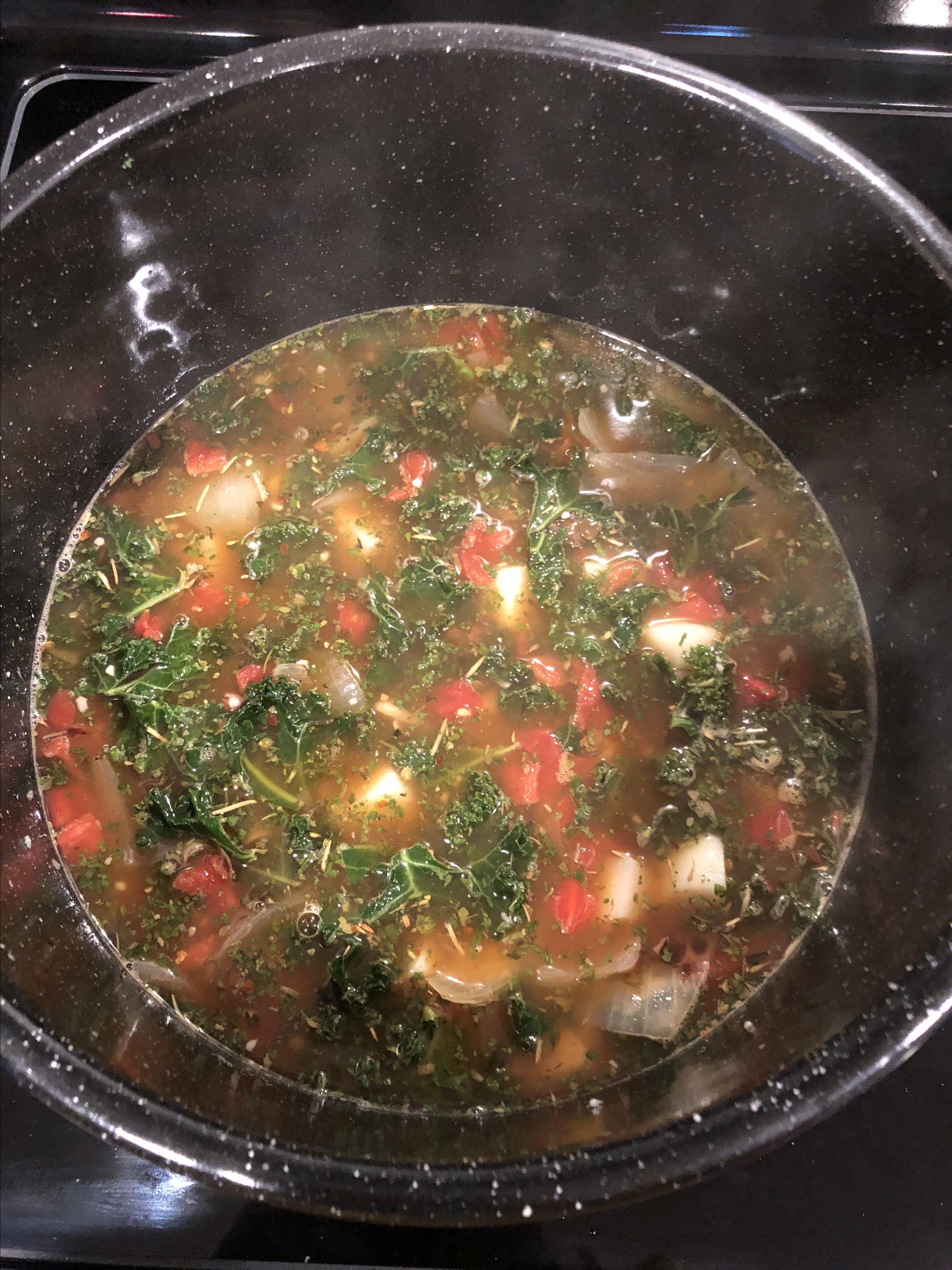 Vegetarian Kale Soup Tony