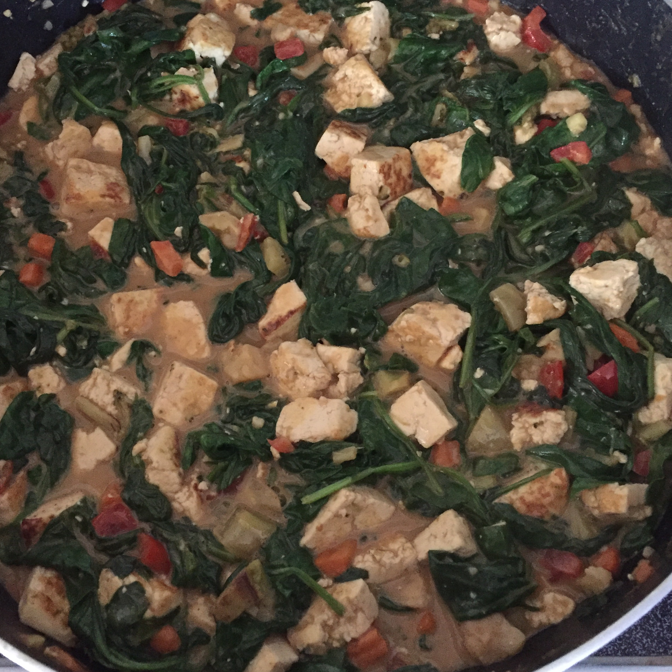 Tofu Stir-Fry with Peanut Sauce (Vegan)