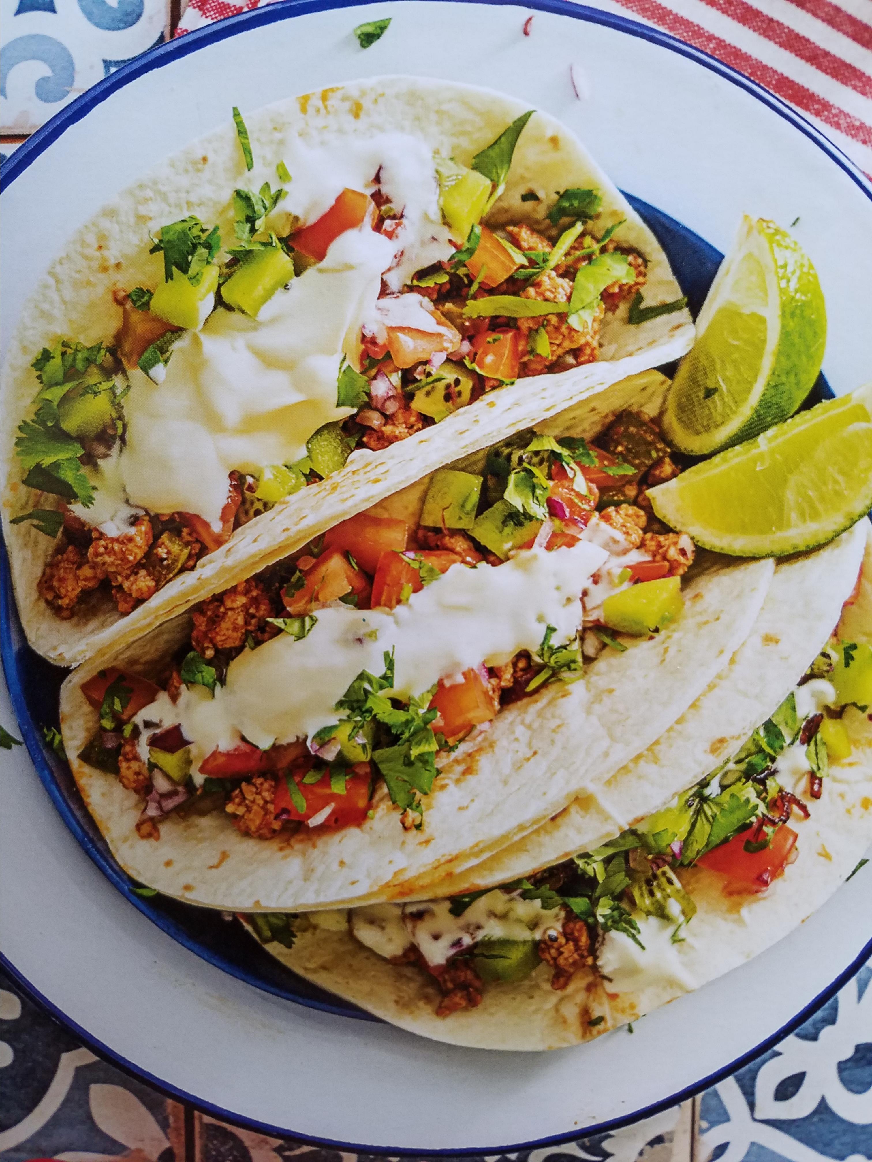 Poblano and Ground Pork Tacos