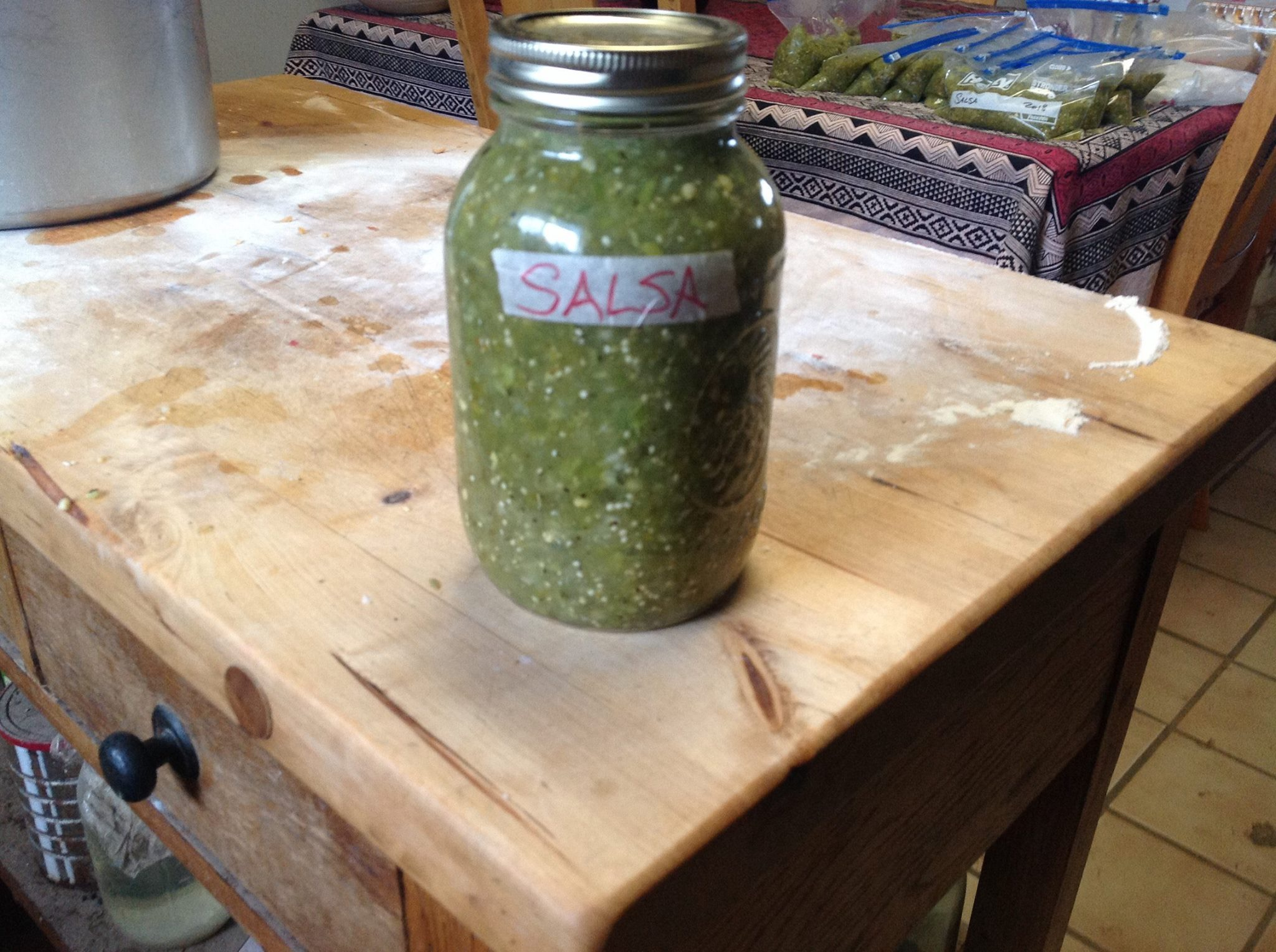 No-Cook, Large-Batch Fresh Tomatillo Salsa