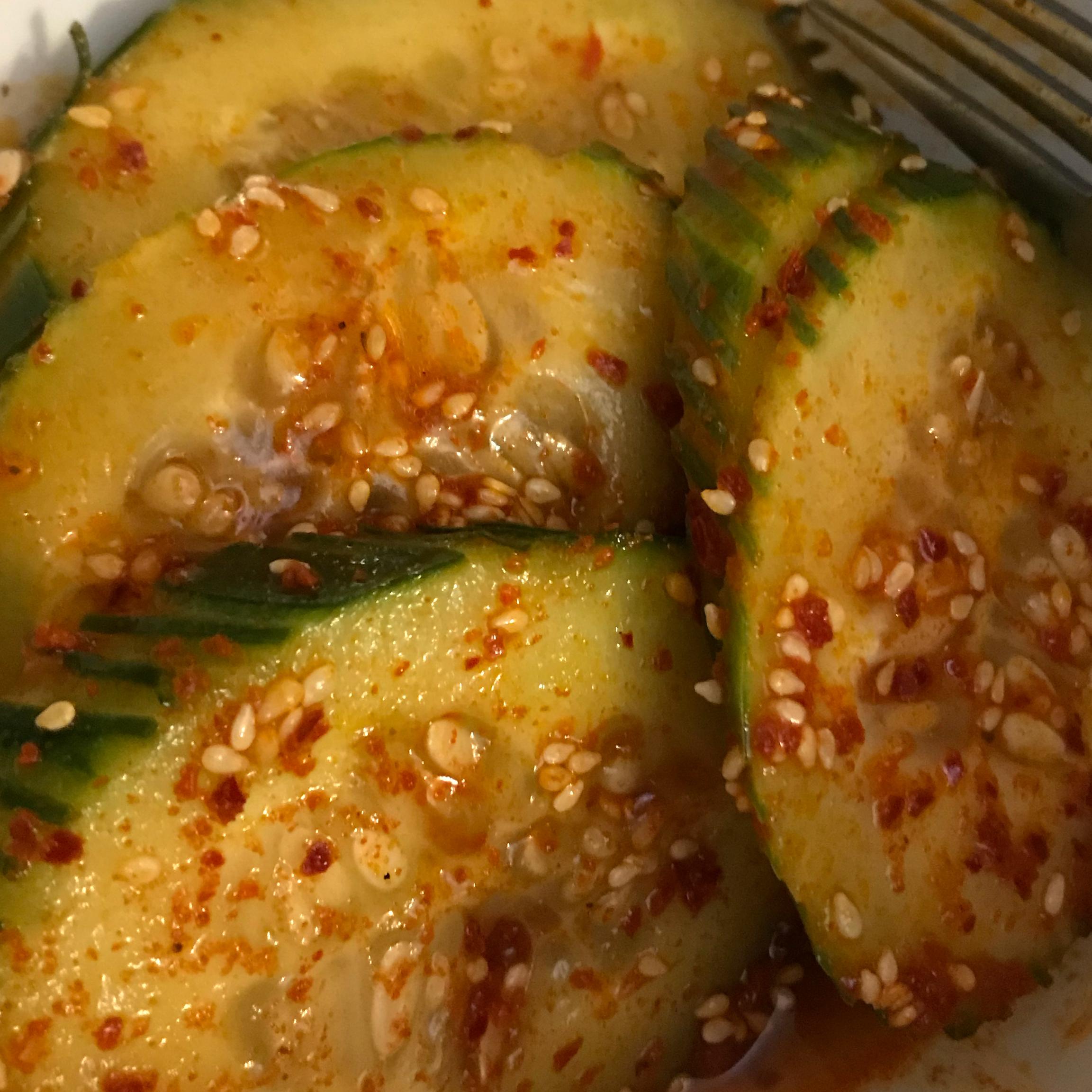 Mom's Spicy Cucumber Kimchee peter b