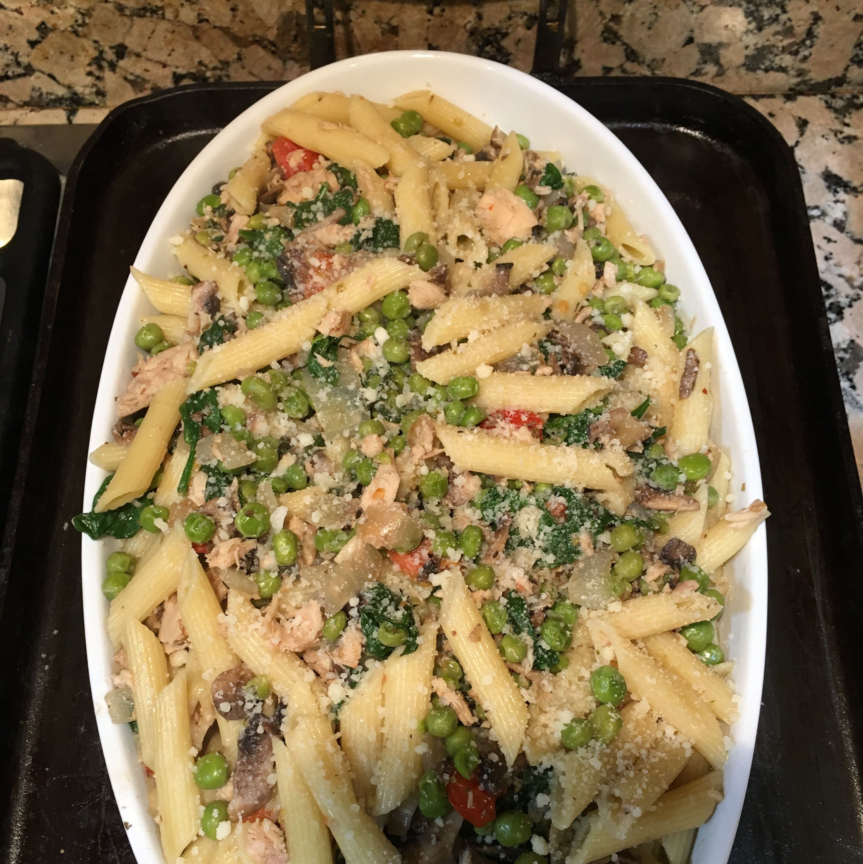 Penne with Pancetta, Tuna, and White Wine Gary Spiegel