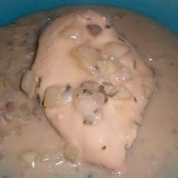Slow Cooker Chicken with Mushroom Wine Sauce kellieann