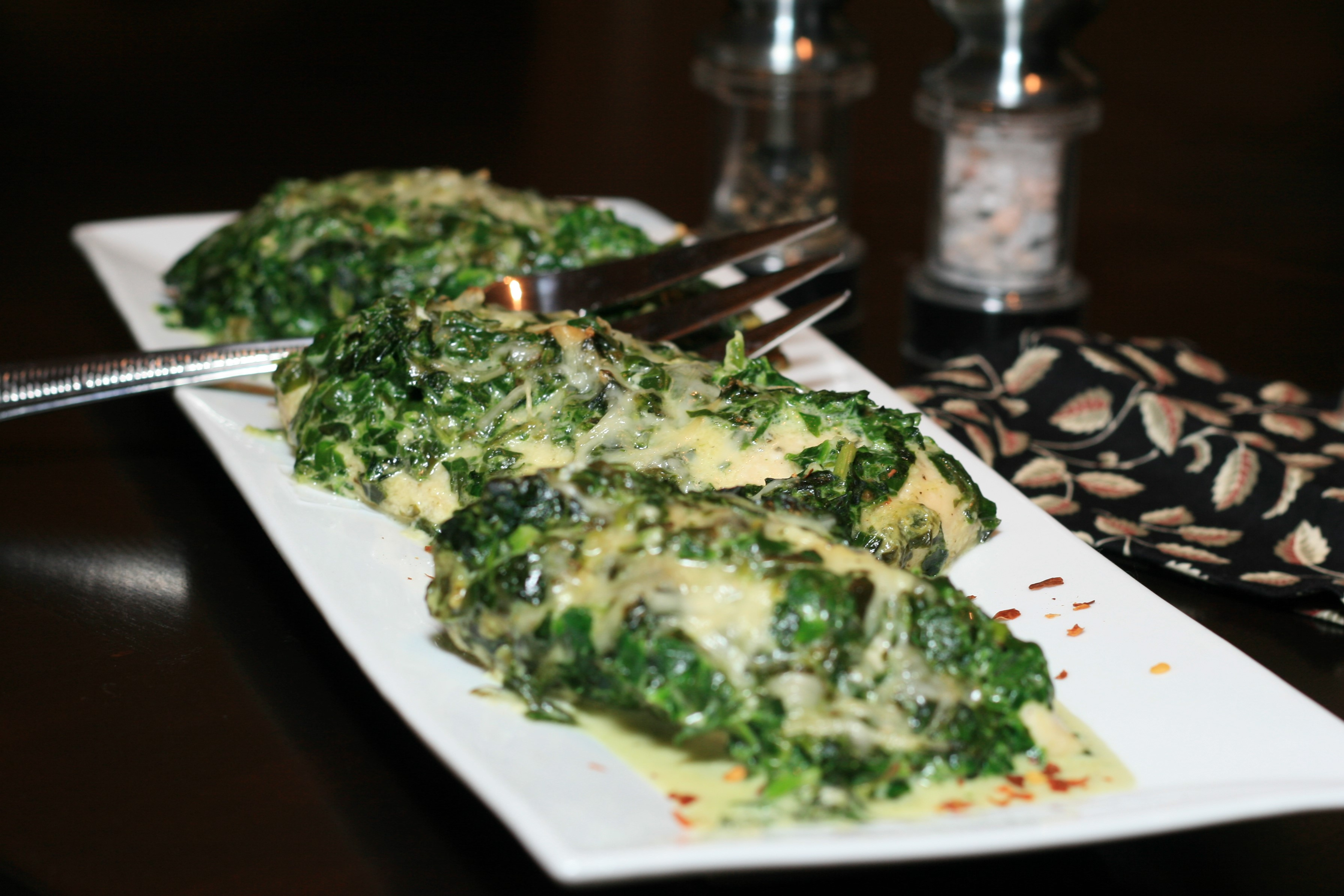 Low-Carb Chicken and Spinach Casserole MissKendra